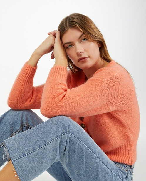 Cardigan orange - en fin tricot - Ella Italia