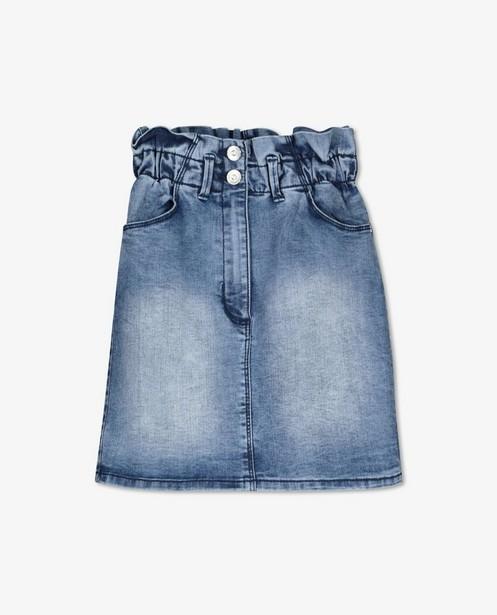 Jupe en jeans paperbag waist s.Oliver - bleue - S. Oliver