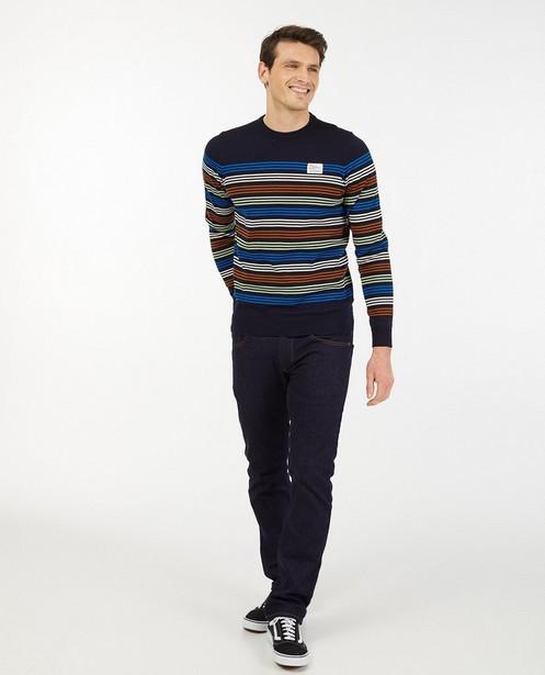 Pull rayé en coton bio Baptiste - fin tricot - Baptiste