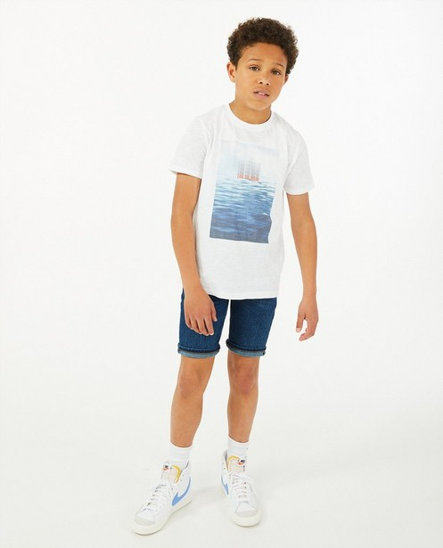 Post consumer denim bermuda I AM, 7-14 jaar - in donkerblauw - I AM