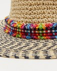 Bonneterie - Chapeau beige à rayures Pieces