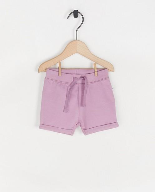 Short en coton bio - avec des jambes repliées - Cuddles and Smiles