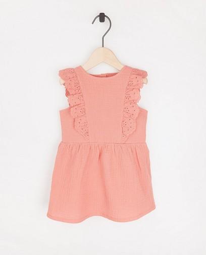 Roze jurkje van tetrastof