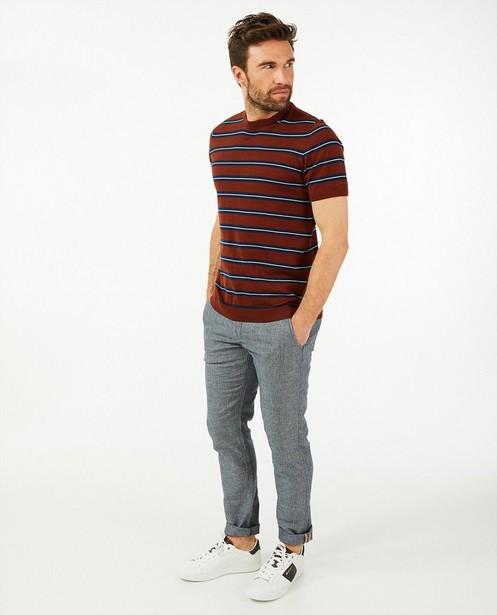 Pantalon en lin bleu Hampton Bays - en twill de chambray - Hampton Bays