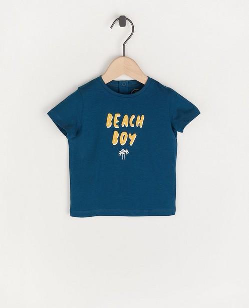 T-shirt bleu à inscription BESTies - en coton - Besties