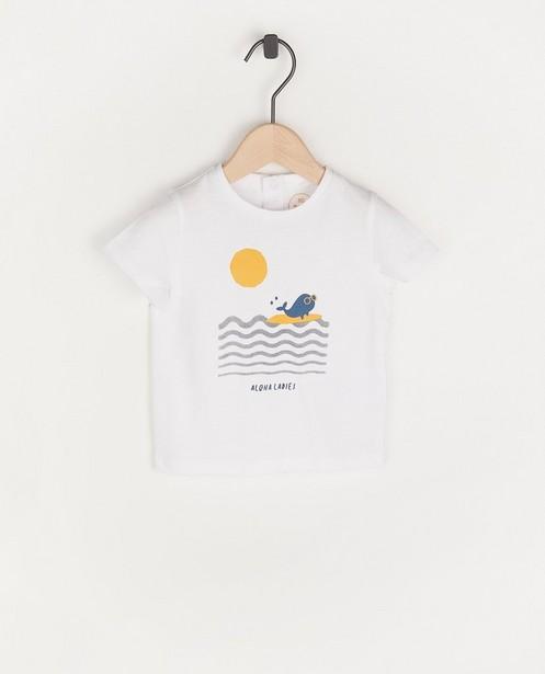 Wit T-shirt met print BESTies - van katoen - Besties