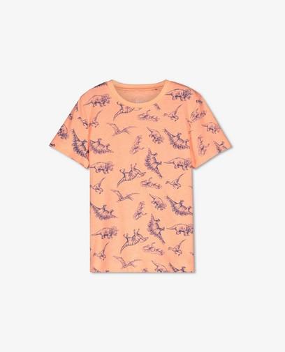T-shirt orange à imprimé à dinos BESTies
