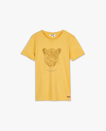 T-shirt beige à imprimé