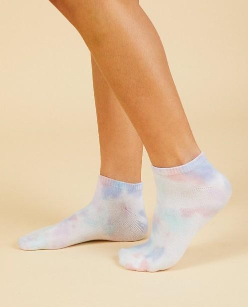 Socquettes blanches Nour & Fatma - avec des taches colorées - Nour en Fatma