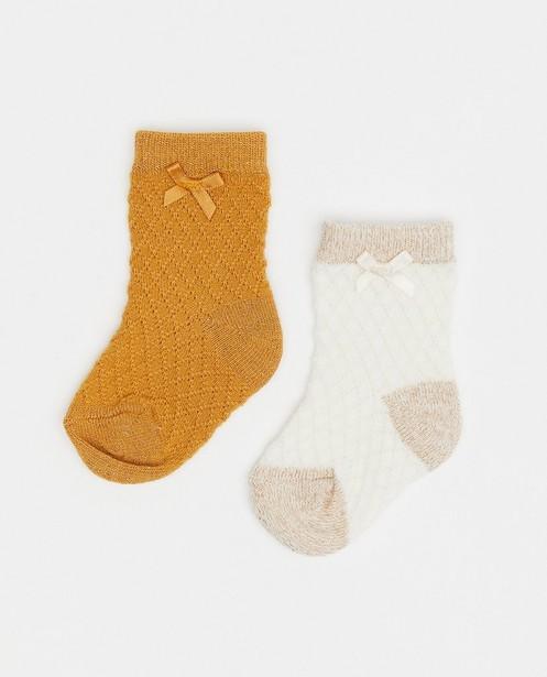 Lot de 2 paires de chaussettes pour bébés - avec fil métallisé - Newborn