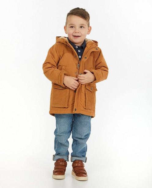 Veste brune avec capuchon - et doublure peluche - Kidz Nation