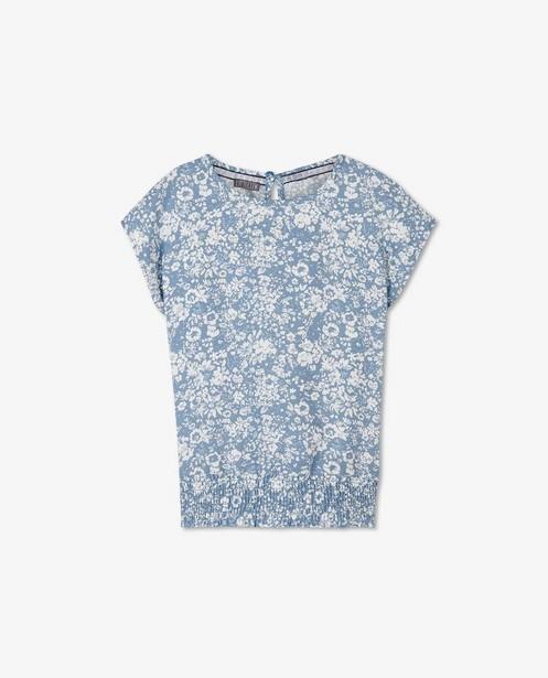 Blauwe top met bloemenprint Levv - allover - Levv