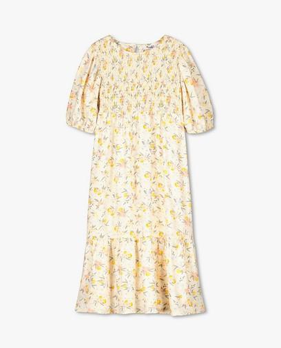 Robe jaune pâle à imprimé fleuri