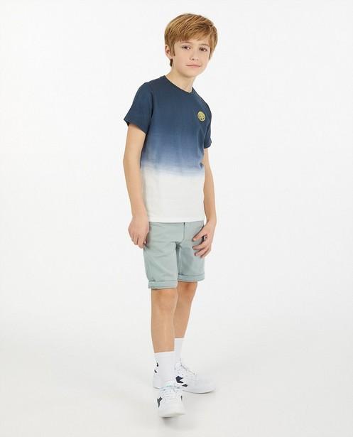 T-shirt met gradiënt, 7-14 jaar - blauw-wit - Fish & Chips
