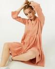 Roze jurk van tetrastof Sora - op de knie - Sora