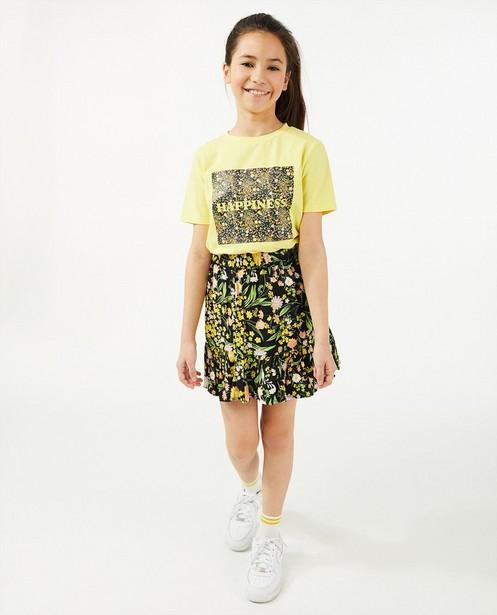 Zwarte rok met bloemenprint - allover - Milla Star