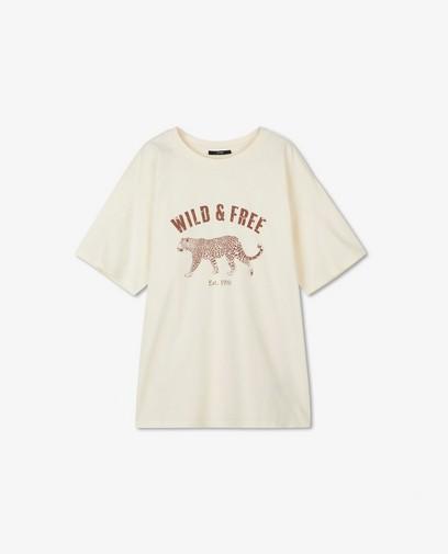 Offwhite T-shirt met opschrift Sora