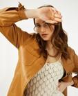 Bruine jas van faux leather Youh! - met knooplint - Youh!