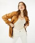 Blazers - Bruine jas van faux leather Youh!