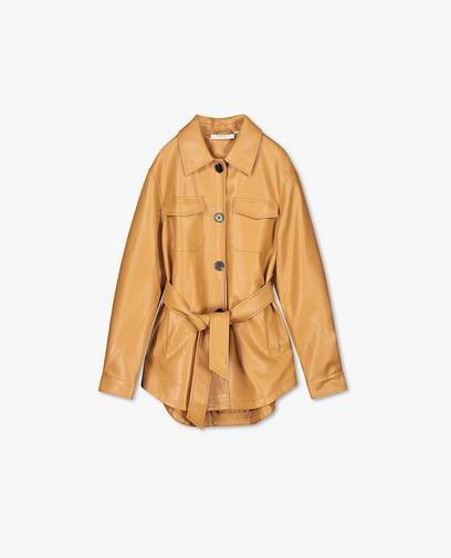 Bruine jas van faux leather Youh!