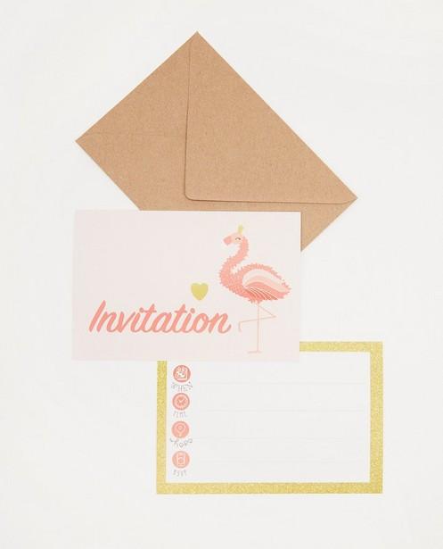 Lot de 6 invitations d'anniversaire AVA x JBC - JBC x AVA - AVA x JBC