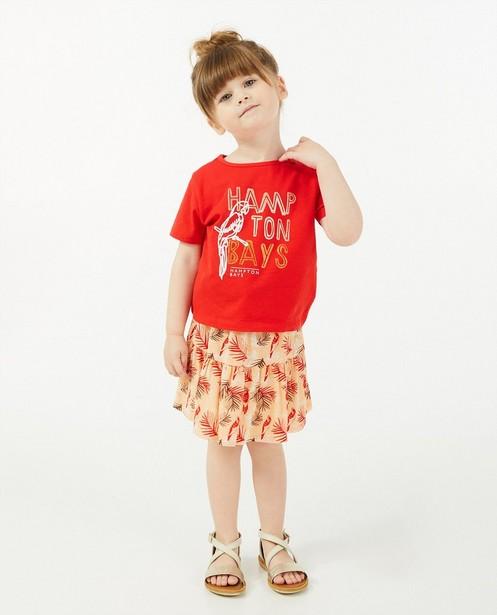 Rood T-shirt Hampton Bays - met print - Hampton Bays