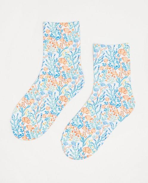 Chaussettes à imprimé fleuri - imprimé intégral - JBC