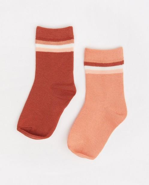 Lot de 2 paires de chaussettes pour bébés - à rayures - Cuddles and Smiles