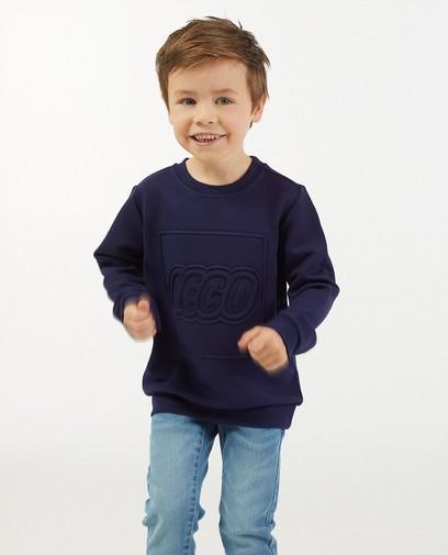 Blauwe sweater met print Lego