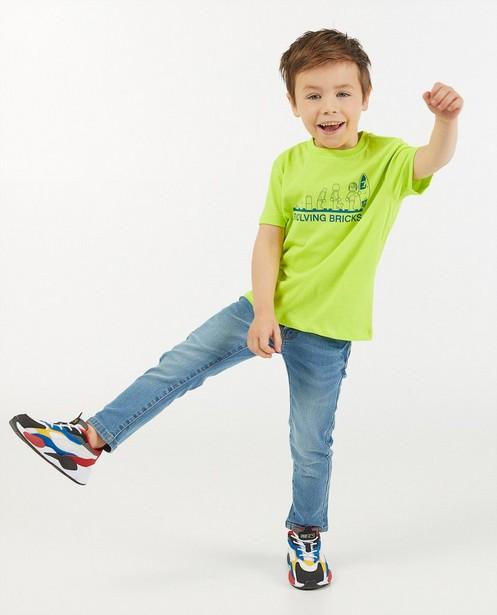 Geelgroen T-shirt met print Lego - stretch - Lego