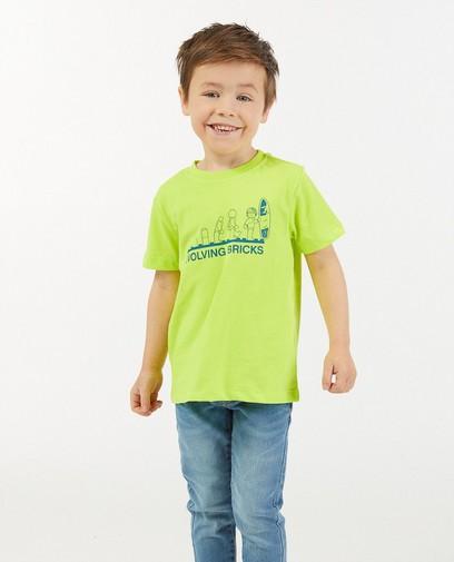 Geelgroen T-shirt met print Lego