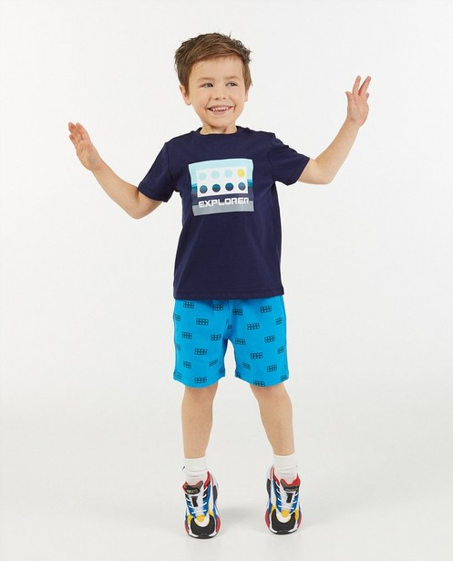 Donkerblauw T-shirt met print Lego - stretch - Lego
