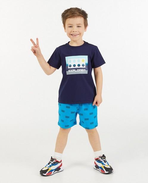 Blauwe sweatshort met print Lego - allover - Lego