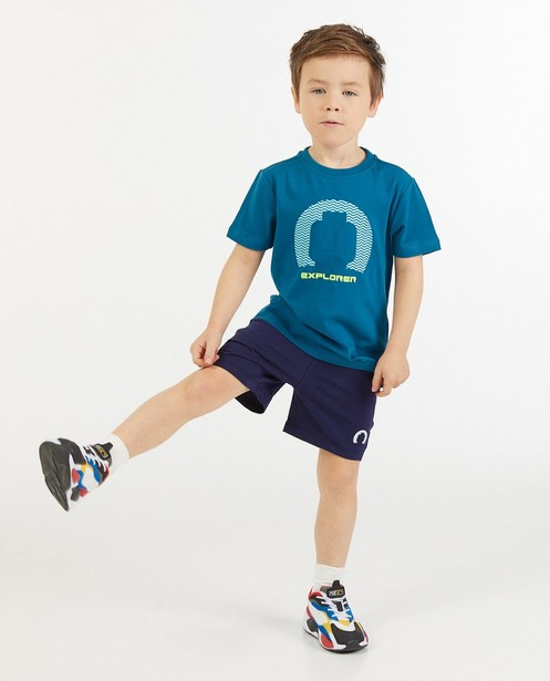 Blauwe sweatshort met print Lego - stretch - Lego