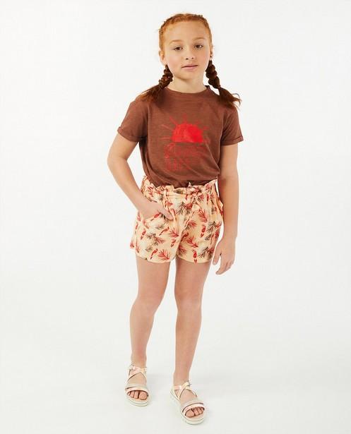 Bruin T-shirt met print Hampton Bays - retro - Hampton Bays