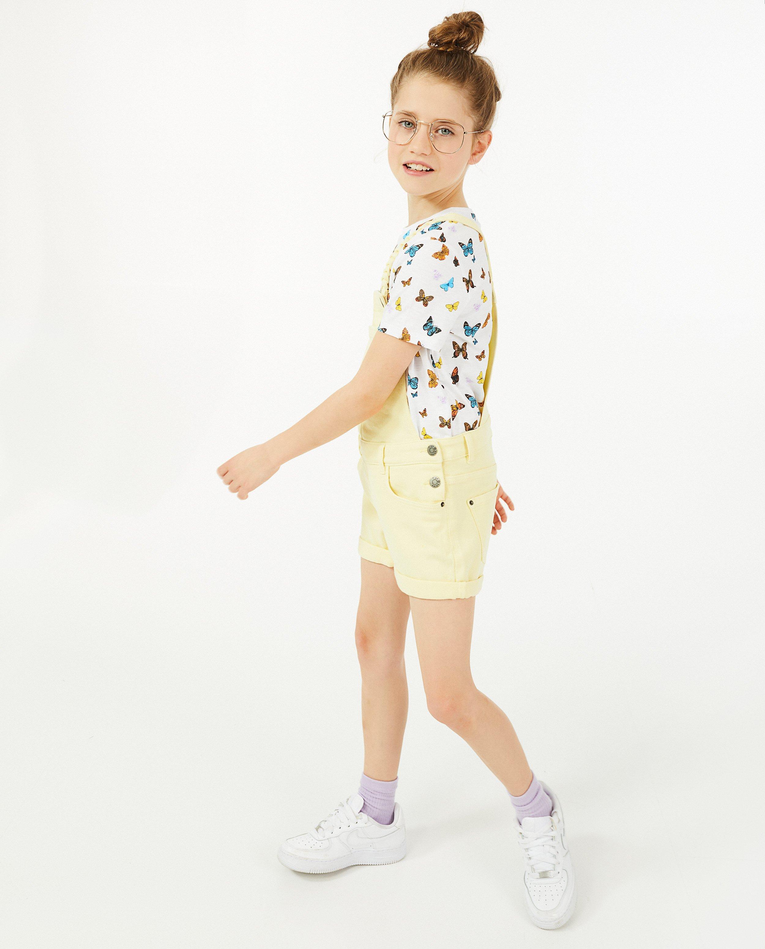 T-shirt met vlinderprint #LikeMe - in wit - Like Me