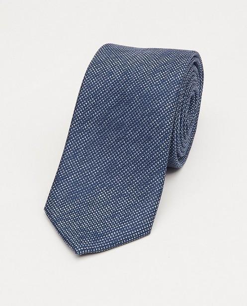 Cravate bleue à micro-imprimé - imprimé intégral - JBC