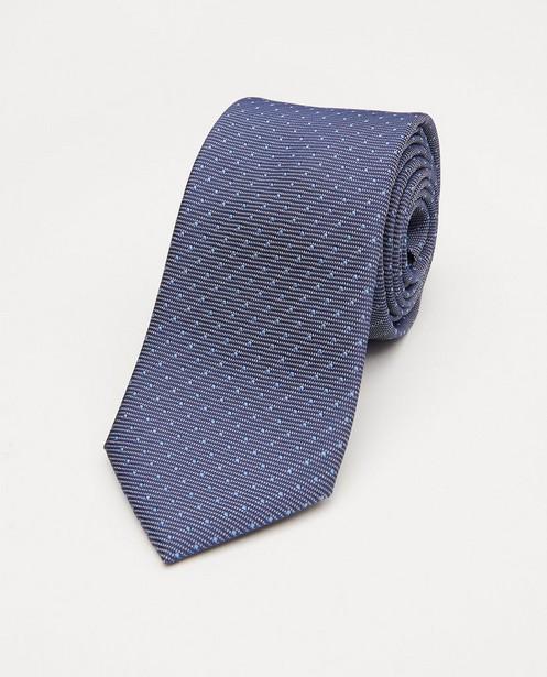 Blauwe stropdas met microprint - allover - JBC