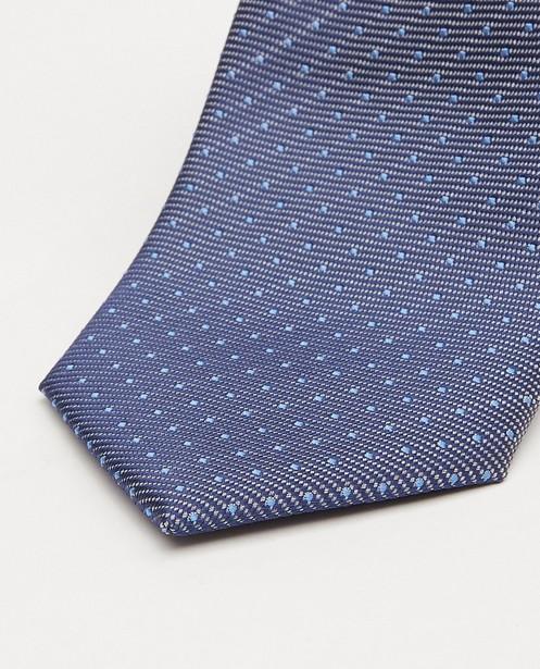 Dassen - Blauwe stropdas met microprint