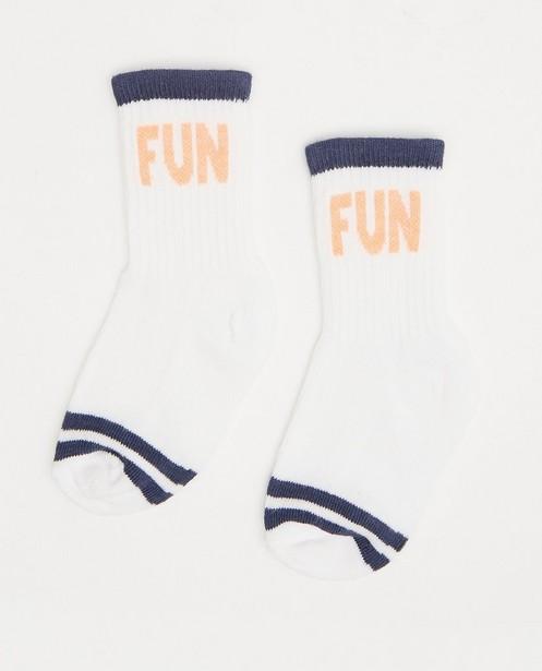 Witte babykousen Feetje - met opschrift - Feetje