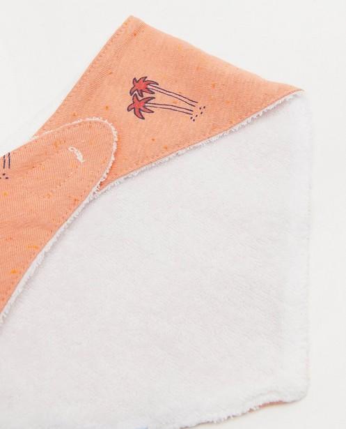 Bonneterie - Bavoir orange à imprimé Feetje
