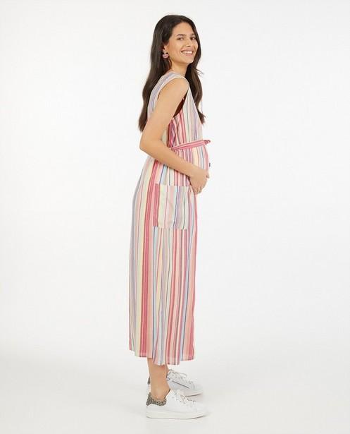 Roze jurk met strepen JoliRonde - zwangerschap - Joli Ronde