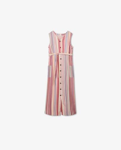 Roze jurk met strepen JoliRonde