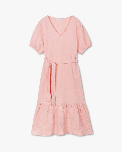 Roze jurk van tetrastof JoliRonde