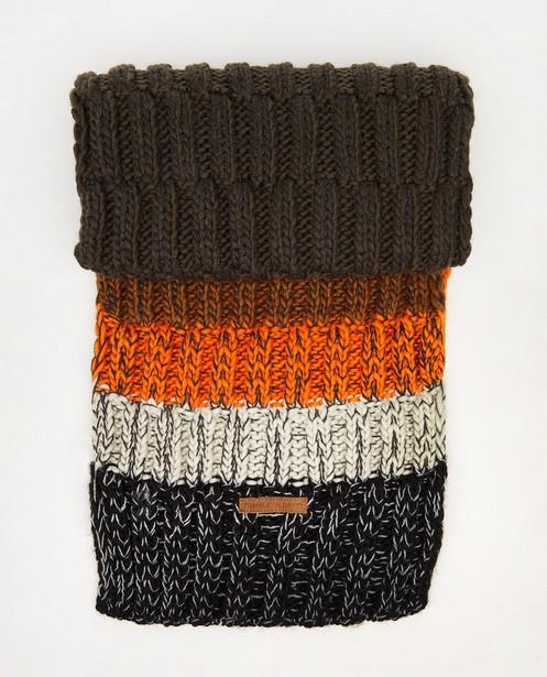 Gestreepte sjaal Tumble 'n Dry - met gebreid patroon - Tumble 'n Dry