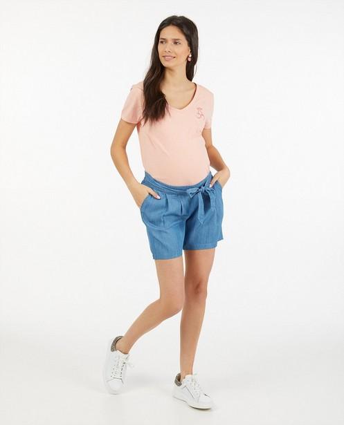 Biokatoenen T-shirt JoliRonde - in roze - Joli Ronde