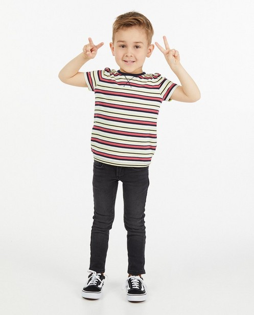 T-shirt en coton bio à rayures - imprimé intégral - Kidz Nation