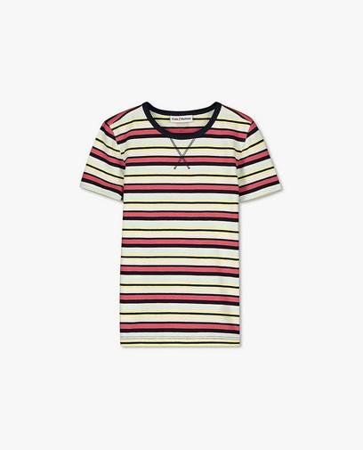 T-shirt en coton bio à rayures