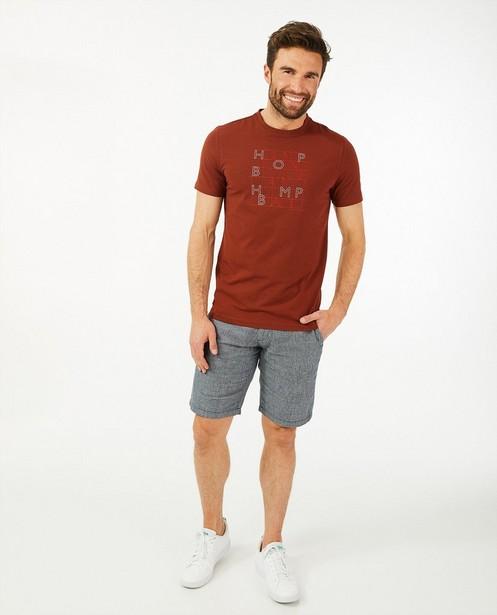 T-shirt met opschrift Hampton Bays - van biokatoen - Hampton Bays