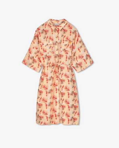 Zalmroze jurk met print Hampton Bays